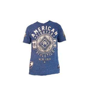 Like New American Fighter Buckle Blue V Neck Shirt